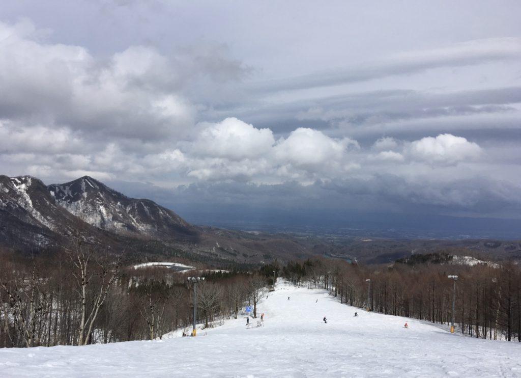 夏油高原スキー場 A1・A2分岐