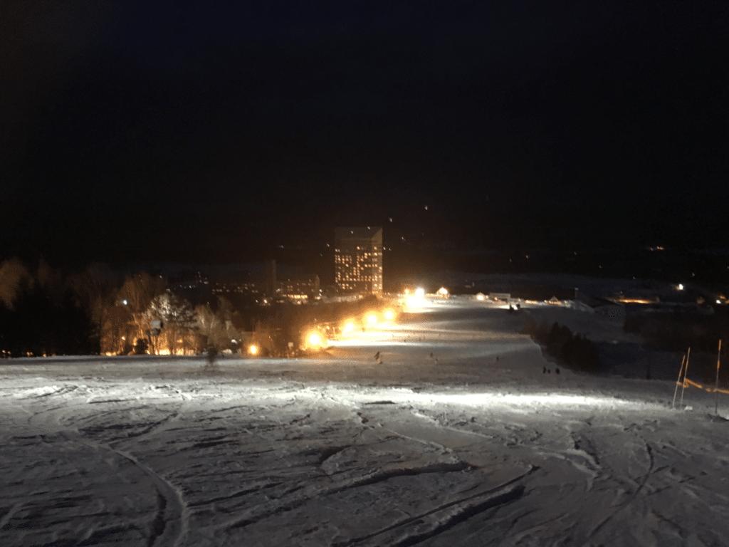 安比高原スキー場 ナイター 白樺ゲレンデ