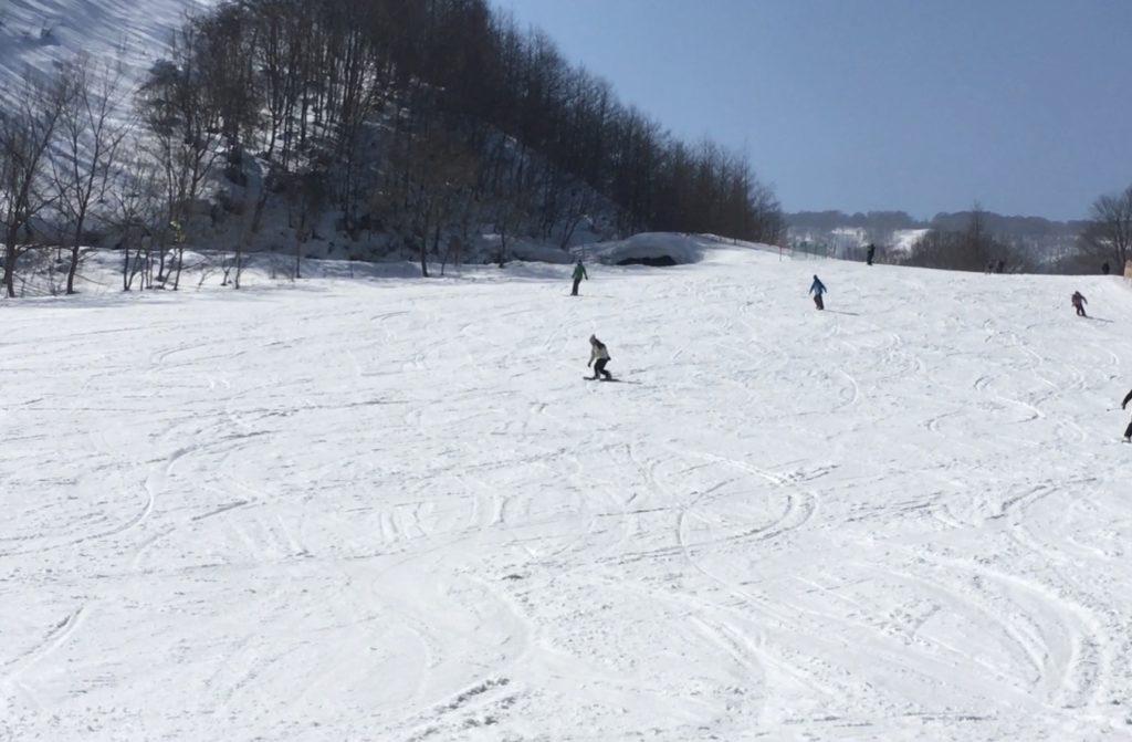八幡平リゾート 下倉スキー場 グリーンBコース下部