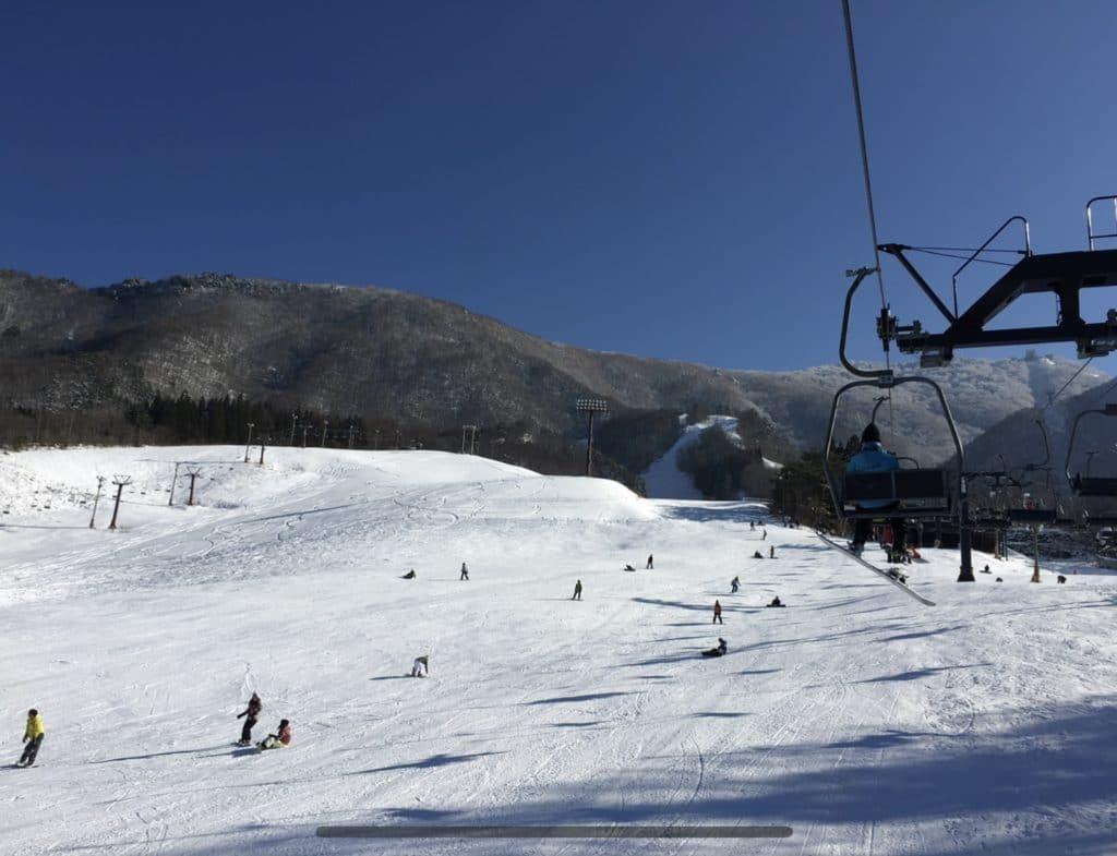 竜王スキーパーク Valley第4ペアパラレルリフトより