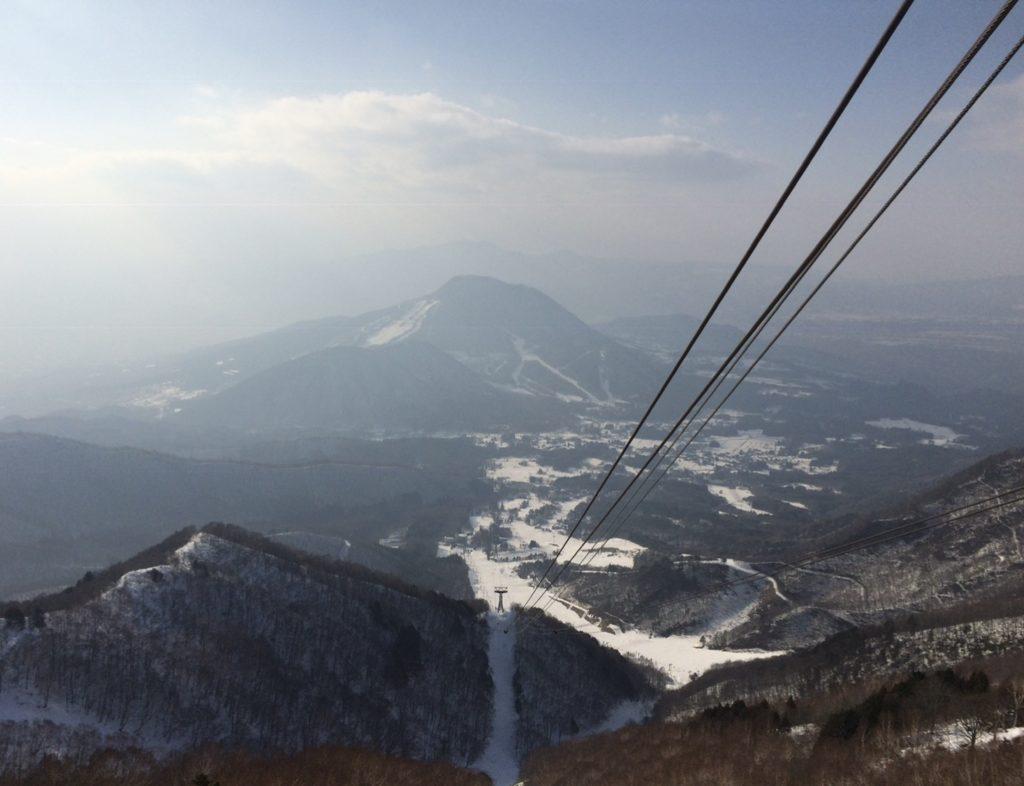 竜王スキーパーク ゴンドラから麓の景色