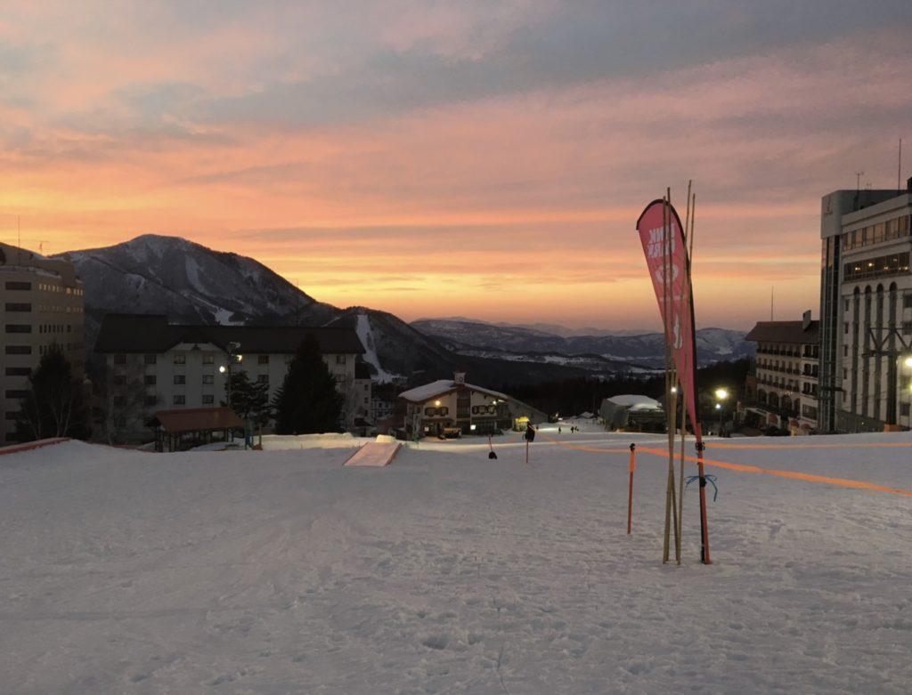 竜王スキーパーク バレー第1ゲレンデ下部 パーク