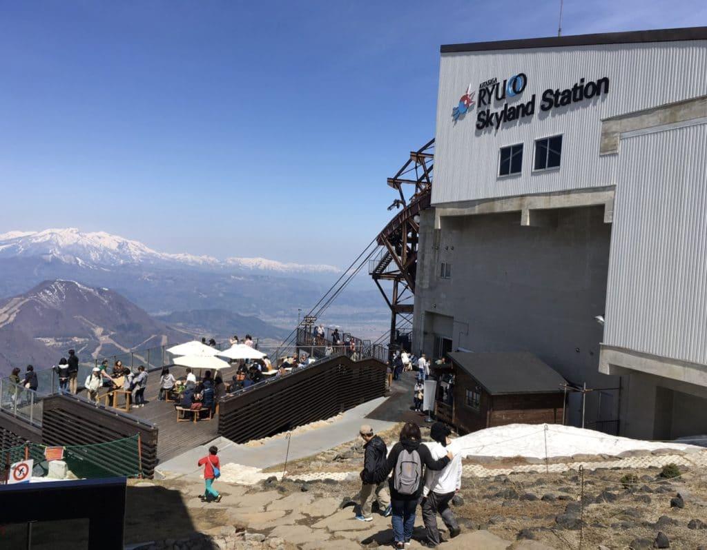 竜王スキーパーク ゴンドラ山頂駅 GW