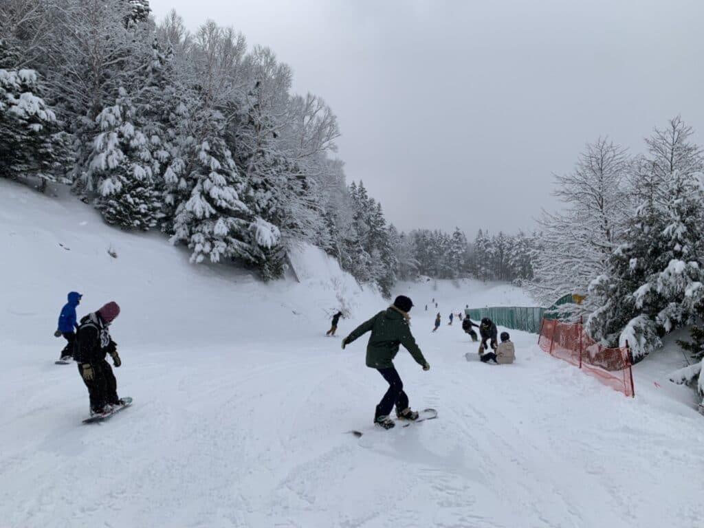 丸沼高原スキー場 ローズコース上部