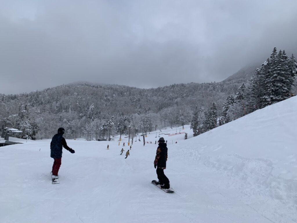 丸沼高原スキー場 バイオレット・コバルト合流付近