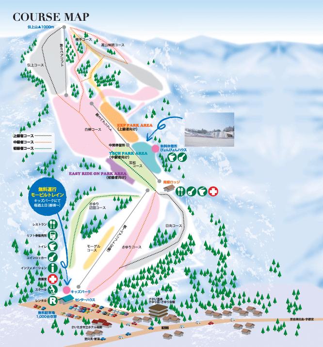 南郷スキー場 コースマップ